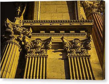 Columns Of The Palace Of Fine Arts Canvas Print by Garry Gay
