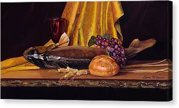 Come And Eat Canvas Print by Sister Laura McGowan