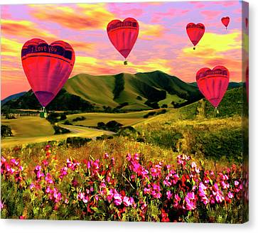 Come Fly With Me Canvas Print by Kurt Van Wagner