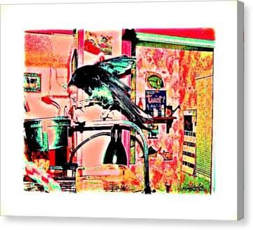 Crow Dance Canvas Print by YoMamaBird Rhonda