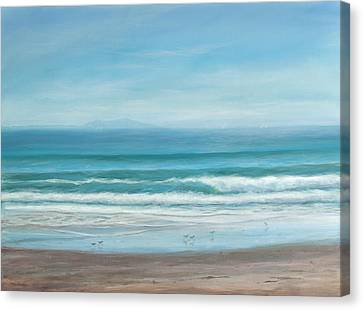 Come With Me To The Sea Canvas Print by Tina Obrien