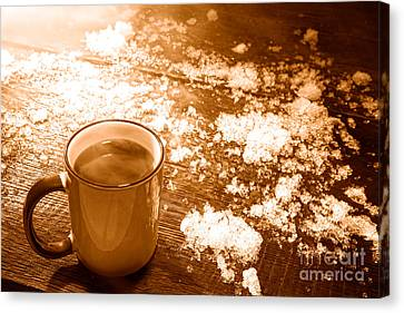 Comfort - Sepia Canvas Print by Olivier Le Queinec