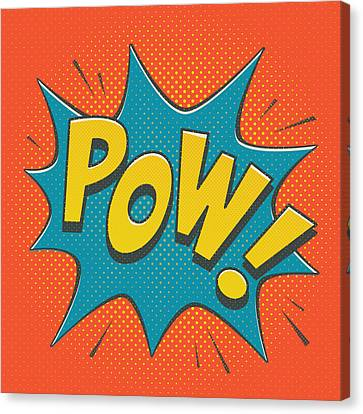 Comic Pow Canvas Print by Mitch Frey