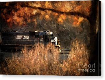 Comin' Round The Mountain Canvas Print by Lois Bryan