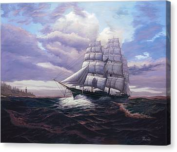Coming Through The Storm Canvas Print by Del Malonee