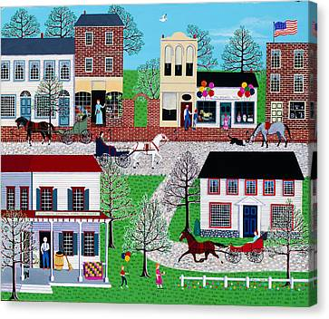 Commerce Street Canvas Print by Susan Henke