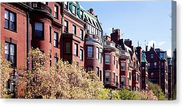 Commonwealth Avenue Boston Ma Canvas Print by Panoramic Images