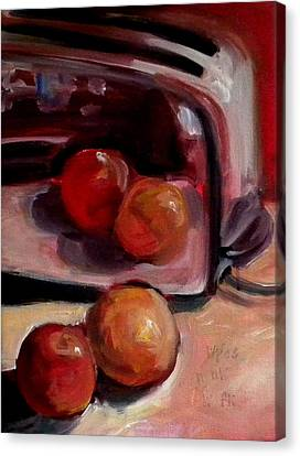 Comparing Apples And Oranges 2 Canvas Print by Paula Strother