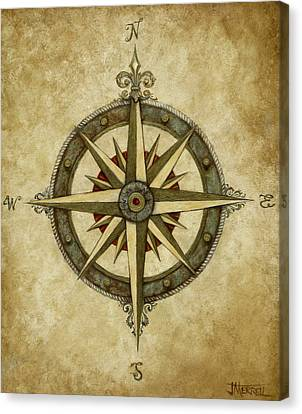 Compass Rose Canvas Print by Judy Merrell