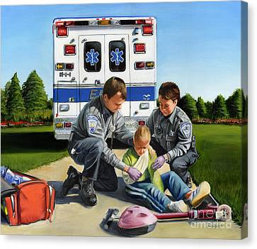 Compassion Canvas Print by Paul Walsh