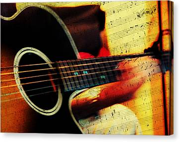 Composing Hallelujah. Music From The Heart  Canvas Print by Jenny Rainbow