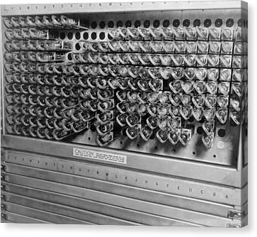 Computer Electrical Components Canvas Print by Underwood Archives
