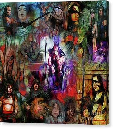 Conan The Barbarian Collage - Square Version Canvas Print by John Robert Beck