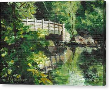 Concord River Bridge Canvas Print by Claire Gagnon