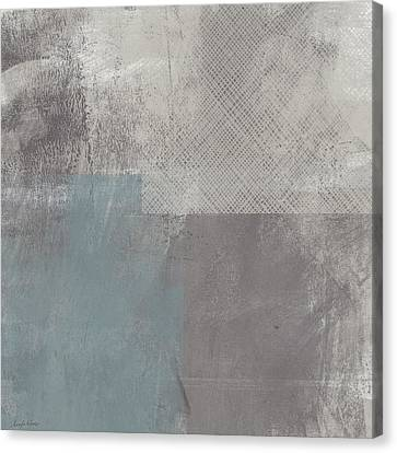 Concrete 3- Contemporary Abstract Art By Linda Woods Canvas Print by Linda Woods