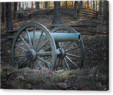 Civil War Cannon Canvas Print by Scott Franklin