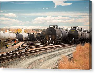 Congested Tracks Canvas Print by Todd Klassy