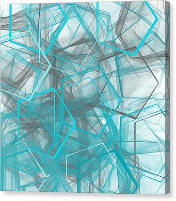 Connecting Angles Canvas Print by Lourry Legarde