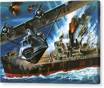 Consolidated Pby Catalina Canvas Print by Wilf Hardy