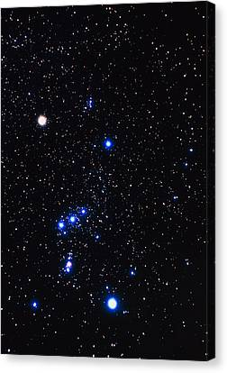 Constellation Of Orion With Halo Effect Canvas Print by John Sanford