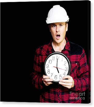 Construction Project Running Over Schedule Canvas Print by Jorgo Photography - Wall Art Gallery