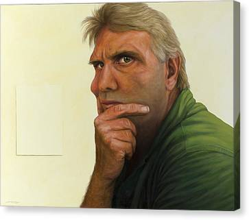 Contemplating The Blank Page Canvas Print by James W Johnson
