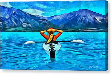 Contemplating The Paradise - Da Canvas Print by Leonardo Digenio
