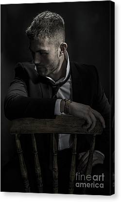 Contemplative Male Model Canvas Print by Amanda And Christopher Elwell