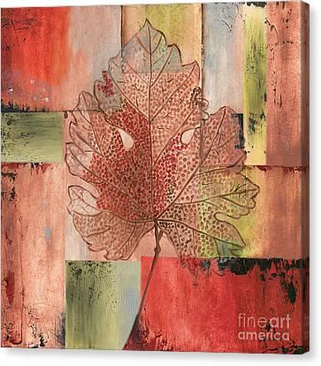 Contemporary Grape Leaf Canvas Print by Debbie DeWitt