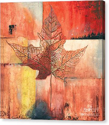 Contemporary Leaf 2 Canvas Print by Debbie DeWitt