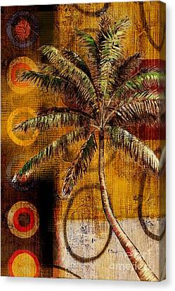 Contemporary Palm II - Vertical Canvas Print by Paul Brent