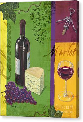 Contemporary Wine Collage I Canvas Print by Paul Brent