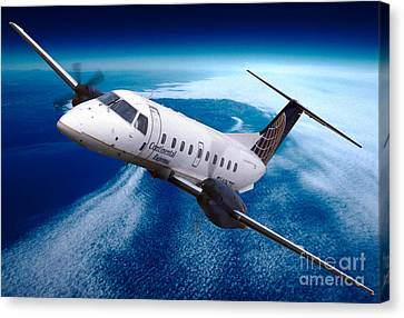 Continental Express Embraer Emb120rt Brasilia N16731 Canvas Print by Wernher Krutein