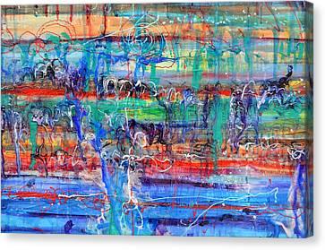 Convection Diffusion Canvas Print by Regina Valluzzi