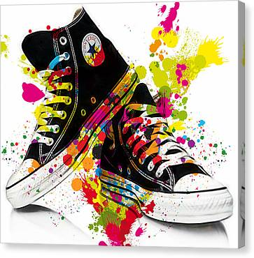 Converse All Stars Canvas Print by Marvin Blaine