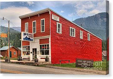 Cooke City Mt Store Canvas Print by Adam Jewell