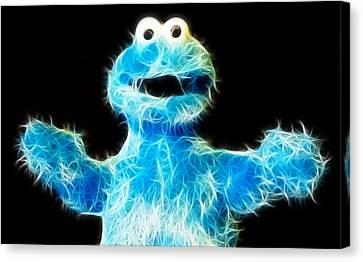 Cookie Monster - Sesame Street - Jim Henson Canvas Print by Lee Dos Santos