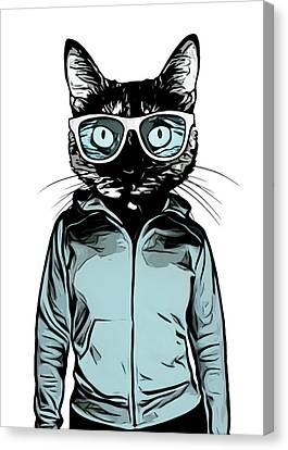 Cool Cat Canvas Print by Nicklas Gustafsson
