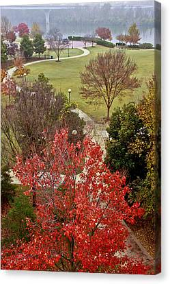 Coolidge Park Path Canvas Print by Tom and Pat Cory