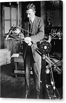Coolidge X-ray Tube Inventor Canvas Print by Underwood Archives