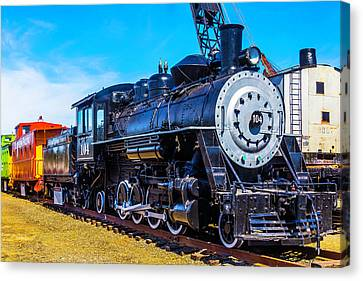 Coos Bay Lumber Company Train 104 Canvas Print by Garry Gay