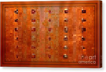Copper Abstract Canvas Print by Carol Groenen
