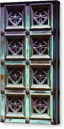 Copper Door Canvas Print by Rob Tullis
