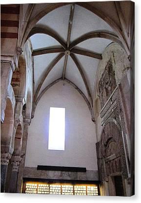 Cordoba Ancient High Ceiling Church Spain Canvas Print by John Shiron