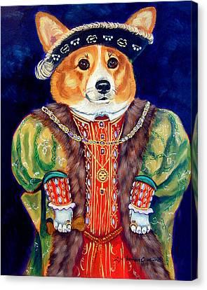 Corgi King Canvas Print by Lyn Cook