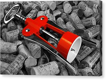 Corks And Classic Bottle Opener Canvas Print by Stefano Senise