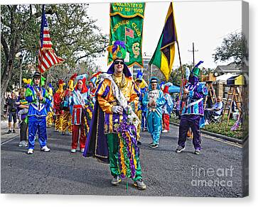 Corner Club 3 -mardi Gras New Orleans Canvas Print by Kathleen K Parker