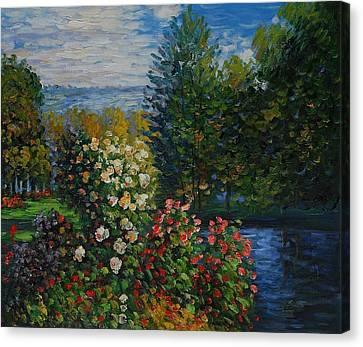 Corner Of The Garden At Montgeron Canvas Print by Claude Monet