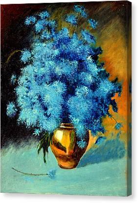 Cornflowers Canvas Print by Henryk Gorecki