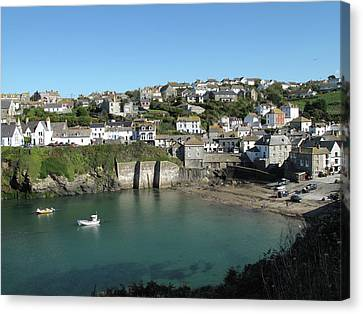 Cornish Fishing Village Of Port Isaac, Cornwall Canvas Print by Thepurpledoor